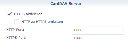 Synology Carddav Android